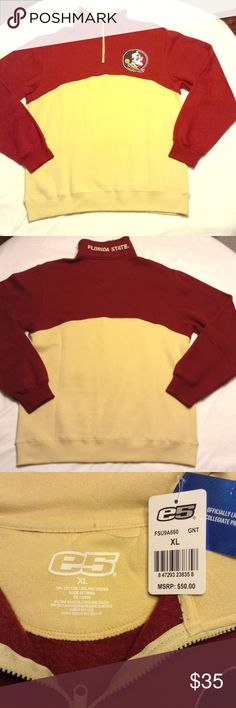 """Florida State Seminoles Pullover Sweatshirt Florida State Seminoles Pullover Sweatshirt with shades of maroon and yellow. Measurements laying flat: length 30"""", sleeves 27 1/4"""" and bust 24"""". e5 Other"""