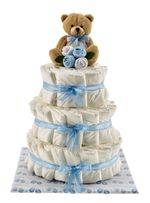 One of the best nappy cakes I've seen - such attention to detail. Great pressie for friends and work colleagues!