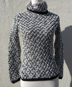 Love this Black & White Merino-Blend Turtleneck Sweater by Relais Knitwear on #zulily! #zulilyfinds