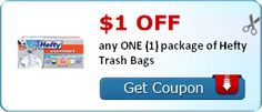 Tri Cities On A Dime: $1.00 COUPON ON HEFTY TRASH BAGS