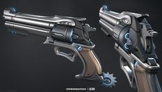 McCree's Revolver, Kyle Rau on ArtStation at https://www.artstation.com/artwork/e5kLY