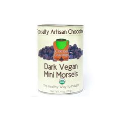 Vegan semi sweet mini morsels are great for baking or making homemade hot chocolate.   Low in sugar and the perfect treat.  #cocoacravings #brandofesutras #vegan #darkchocolate #minimorsels #semisweet #lowsugar  Available at http://www.cocoacravings.com/chocolate-morsels/614-vegan-semi-sweet-chips.html