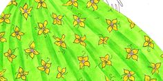 How to draw floral print step-by-step tutorial for fashion design sketches and illustrations. Learn how to draw feautiful floral pattern for your dresses