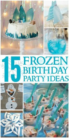 Create the perfect Frozen Party complete with themed food activities and more for your little one with these Frozen Birthday Party Ideas! Frozen Party Food, Frozen Party Favors, Frozen Themed Birthday Party, Carnival Birthday Parties, Party Food And Drinks, Birthday Party Games, Frozen Birthday Activities, Frozen Themed Food, Birthday Blast
