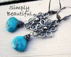Tibet  Turquoise  Sterling  Silver Earrings