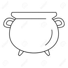 Illustration of Vintage cauldron icon. Outline vintage cauldron vector icon for web design isolated on white background vector art, clipart and stock vectors. Vector Icons, Vector Art, Cauldron, Chalkboard Art, Pattern Ideas, App Icon, Pumpkins, Outline, Vectors