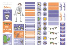 Free Printable Halloween (09) Planner Stickers from The Dear You Project