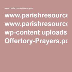 www.parishresources.org.uk wp-content uploads Offertory-Prayers.pdf