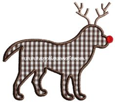 Rudolph Dog Applique Design