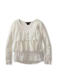 7-16 New Amy/'s Closet Girls/' T-Shirt /& Lace Tank Overlay Girls