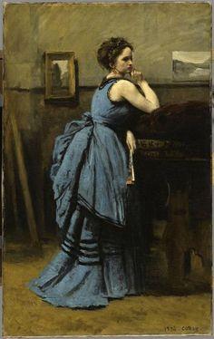 Femme en bleue-C. Corot