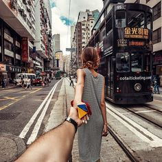 (the photo series by Russian Photographer, Murad Osmann) Wanderlust Travel, Murad Osmann, Luxury Couple, Discover Hong Kong, Destinations, Mont Saint Michel, Photo Series, End Of The World, Adventure Is Out There