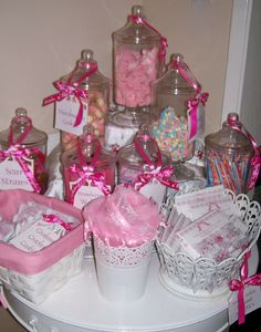 Little Girls Tea Party Candy Station.