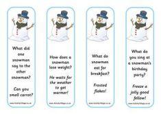 Snowman Jokes Bookmarks + other Christmas free printables Christmas Jokes For Kids, Christmas Gift Games, Christmas Books, Christmas Lunch, Holiday Crafts, Christmas Time, Christmas Ideas, Xmas, Snowman Jokes