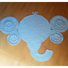 Makenzie's Elephant Rug This a very detailed well written pattern. Everything is explained in detail! Although I gave the Caron One pound yarn a 3 rating, this was the perfect yarn for this project as stiffe. Crochet Cross, Crochet Mandala, Free Crochet, Crochet Baby, Elephant Rug Crochet, Crochet Stitches, Crochet Patterns, Caron One Pound Yarn, Hello Kitty Crochet