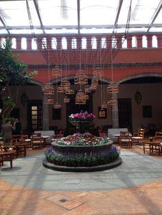 Patio Techado, Restaurant Hacienda de los Morales, Mexico City, Mexico http://www.haciendadelosmorales.com/