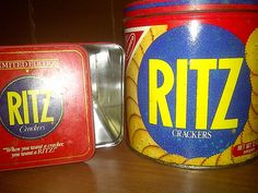 RITZ CRACKER TINS 1982 and 1987 by maggiecastillo on Etsy, $6.00