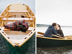 Gorgeous fall engagement photos in a boat! Talk about seaside romance. Beautiful images by @scottaomalley | http://www.weddingpartyapp.com/blog/2014/11/04/romantic-seaside-engagement-omalley-photographers/