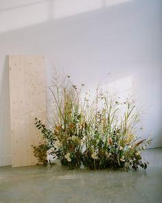wild weedy floral installation