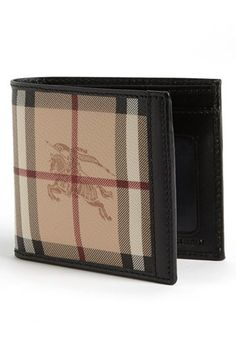 a27c6a183f60 Burberry Logo  amp  Checks Billfold Wallet available at  Nordstrom Burberry  Wallet Men