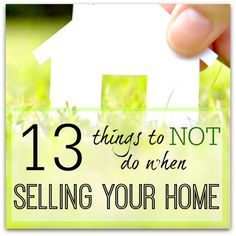 Home staging tips for what NOT to do when you are selling your home. Don't leave…