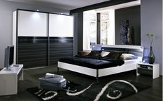 High Class Black & White Bedroom