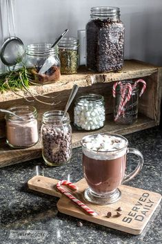 junk home tour 2017 Christmas junk home tour junk home tour Hot cocoa station made with a rustic crate and mason jars, with an Ikea cutting board beverage coaster, part of Funky Junk Interiors' Christmas home tour. See it all at Chalkboard Hot . Christmas Kitchen, Noel Christmas, Rustic Christmas, Christmas Decor, Christmas 2019, Christmas Concert, Mickey Christmas, Xmas, Christmas Cactus