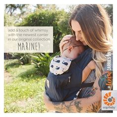 Add a touch of whimsy with the newest carrier in our Original Collection…Marine!    [photo: @tophography_; mama: @kellyfondots]  #babywearing #ergobaby #lovecarrieson