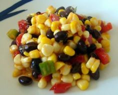 Attn carb lovers! Perfect side Corn and Black Bean Salad to go along with your chicken or steak in Cycle 2 or 3. Enjoy! #17DayDiet #LowCarb