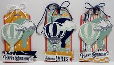 Lynn's Locker: Stampin' Up! Carried Away, Lift Me Up, Up and Away, Sale-a-Bration Tin - Tags - VII