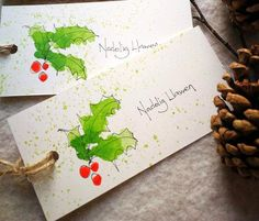 Painted Christmas Cards, Watercolor Christmas Cards, Diy Christmas Cards, Watercolor Cards, Xmas Cards, Christmas Art, Holiday Crafts, Merry Christmas In Welsh, Craft Presents