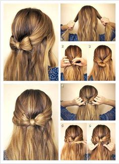 hair, hairstyle, and bow afbeelding