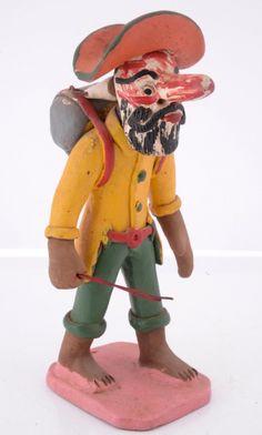 Zé Caboclo Filho. 21 cm. Arte Popular, Popular Art, Art Pop, Tigger, Brazil, Disney Characters, Fictional Characters, Boy Doll, Creative Crafts
