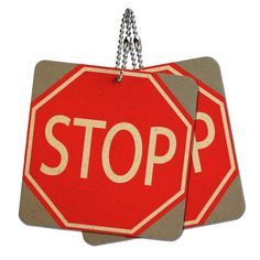 Stop Sign Basic Red Wood MDF 4' x 4' Mini Signs Gift Tags >>> Want to know more, click on the image.