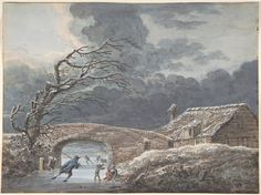 Winter Landscape with Skaters on a Frozen Canal : Free Download & Streaming : Internet Archive