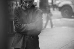 Peter Lindbergh Captures J. Lindebergs Fall 2012 Collection in Times Square
