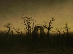 Abbey in an Oak Forest, Caspar David Friedrich