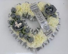 Memorial cemetery | Etsy Artificial Wedding Bouquets, Artificial Flowers, Dad Funeral Flowers, Memorial Gifts, Memorial Ideas, Flower Cake Toppers, Cemetery Decorations, Funeral Flower Arrangements, Football Wreath