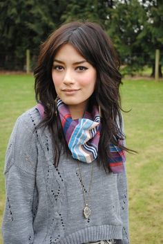middle part bangs - AHHH  I want bangs but my part refuses to move to one side or the other!  I want this hair!