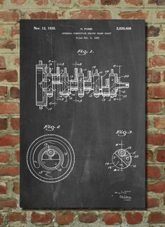 Crank Shaft Poster Crank Shaft Patent Crank Shaft Print Crank Shaft Art Crank Shaft Decor Crank Shaft Wall Art Crank Shaft Blueprint