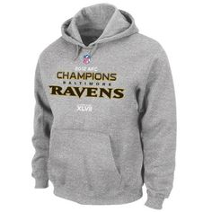 NFL Baltimore Ravens 2012 AFC Conference Champs Official Locker Room Hoodie, Large,Heather Grey by Majestic. $49.00. From the Manufacturer                Officially licensed by the NFL. Made by Majestic. 2012 Conference Champions..                                    Product Description                Show pride for your squad's glorious victory in this men's 2012 AFC® Conference Champions Trophy Collection hooded sweatshirt! Constructed with ultra-soft fleece, it's dec...