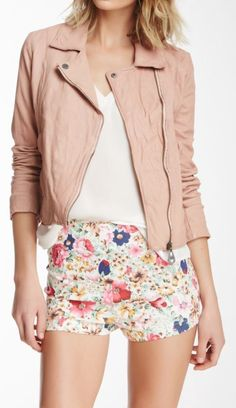 Sheer stripes. Pastel pink. Leather jackets. We love this edgy ...