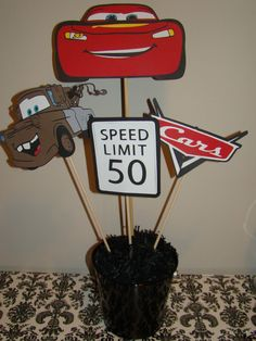 Cars pixar centerpiece picks. $18.00, via Etsy.