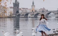 Prague Solo Photoshoot - swans and river Photo Location, Swans, Prague, Old Town, Cool Photos, Tours, Photoshoot, In This Moment, River