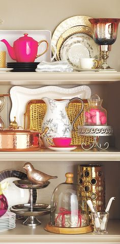 Mix and Mingle! We love metallics and pops of color. We went sassy with this #HomeGoodsHappy collection of entertaining essentials in silvers, golds and hot pink!