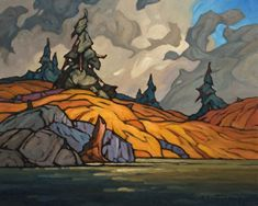 fine art since 1989 Landscape Art, Landscape Paintings, Group Of Seven Paintings, Tropical Art, Impressionism Art, Naive Art, Canadian Artists, Cool Paintings, Land Scape