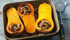 Stuffed butternut squash - looks pretty easy and could use courgettes instead :) xx
