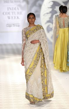 Saree by Varun Bahl at ICW 2014 #saree #sari #blouse #indian #hp #outfit #shaadi #bridal #fashion #style #desi #designer #wedding #gorgeous #beautiful