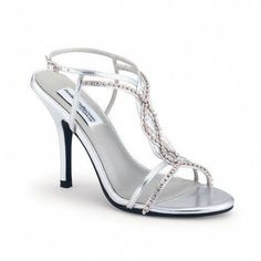 8f14d41a20a1 Silver strappy shoes for my bridesmaid dresses. Not too high of a heel.  High Heels Fashion · Prom heels