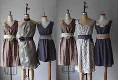 mismatched bridesmaid dresses / Dress / by AtelierSignature, $99.99